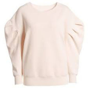 L TROUVÉ Puff Sleeve Sweater top